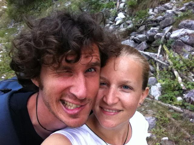 Siegerfoto mit Freund Markus auf dem Gipfel!