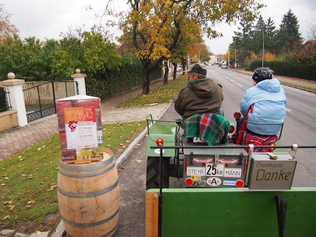 Traktorfahrt im Rahmen des Rotweinherbst im Blaufränkischland