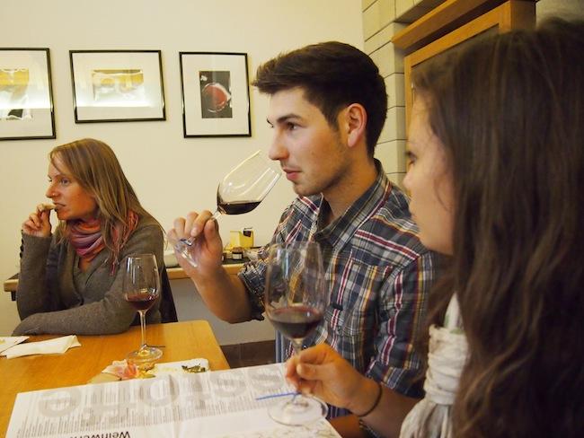 Weinverkostung in Horitschon, Blaufränkischland, Burgenland
