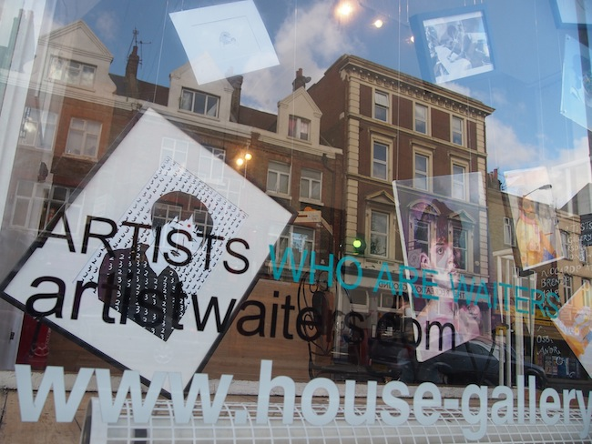 "At House Gallery & Cafe, I discover a rather unusual exhibition named ""Artists Who Are Waiters""."