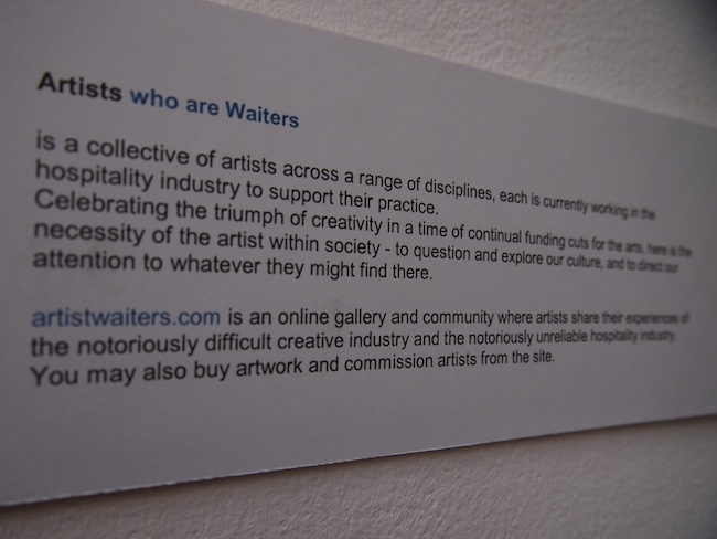 ... leading to Artists Who Are Waiters! Great painting, photography, writing & graphic art is waiting here.