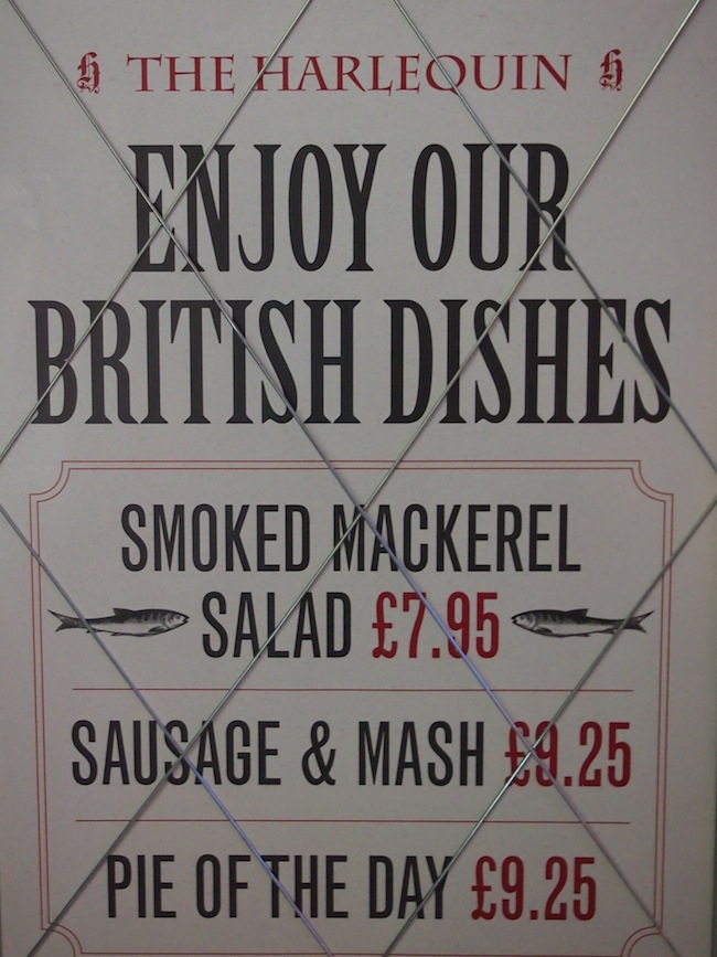 "Fond of ""the British"", no matter what the story reads (sausage and mash?)"