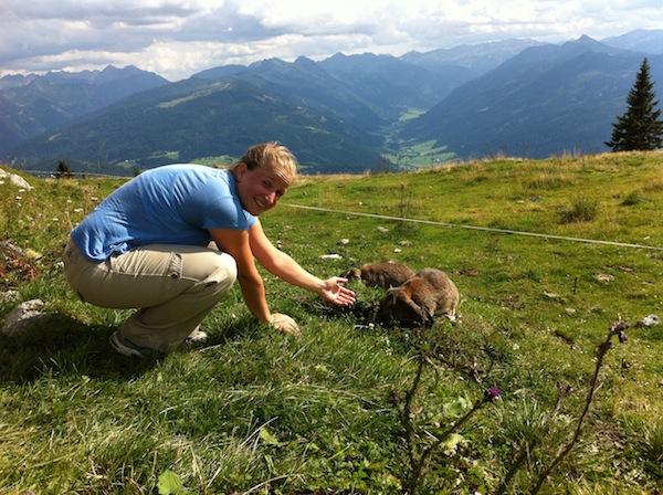 Süße dicke Alpenhasen! Naja, nicht ganz kreativ - aber inspirierend ist die Landschaft hier in Altenmarkt-Zauchensee im schönen Salzburgerland allemal!
