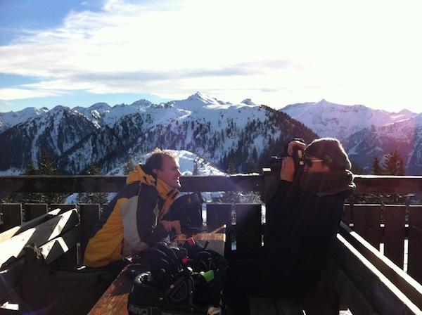 """Das """"Foto des Tages"""" auf der Hochwurzen-Hütte auf knapp 2.000 Meter Seehöhe! Juhu!"""