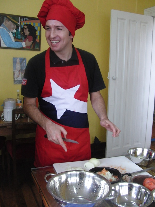 "Boris, whose mother had a preference for Russian names, is a Chilean through and through who simply loves to cook and be with like-minded people: If you visit Valparaíso, make sure you go and see him at ""The Yellow House Bed & Breakfast""!"