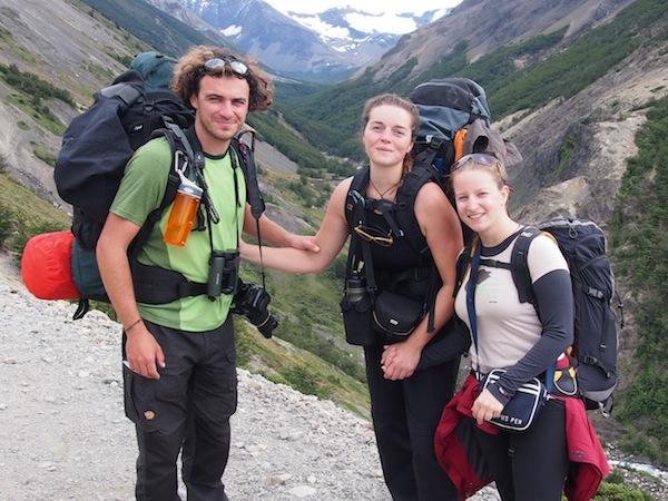 Unterwegs auf dem W-Trek mit meinen Reisefreunden aus Frankreich.