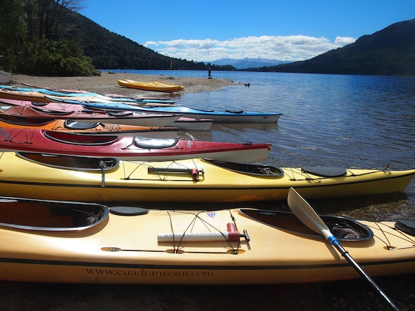 Excited about kayaking once more, after having had some initial experience trekking & kayaking in Tierra del Fuego National Park.