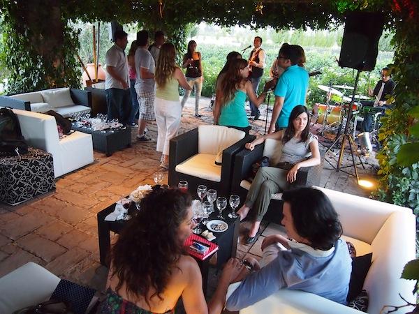Gemütlich lassen wir den ersten Abend unserer Blogger- und Pressegruppe am Weingut Renacer mit Musik & Grillend ausklingen ...