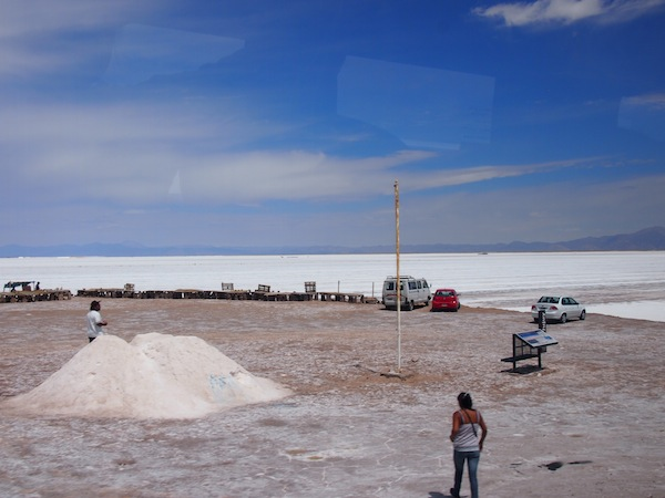 "Here, salt is ""harvested"" and collected for further industrial use by humans. A scenic view point for many travellers along the way!"