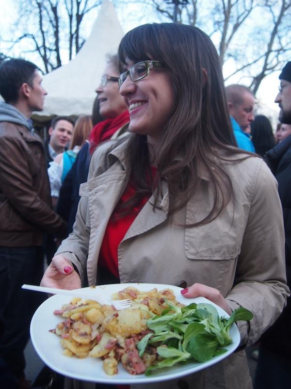 """Auch das gute Essen darf nicht fehlen: """"Steirer Gröstl"""" zum Nachtisch!"""