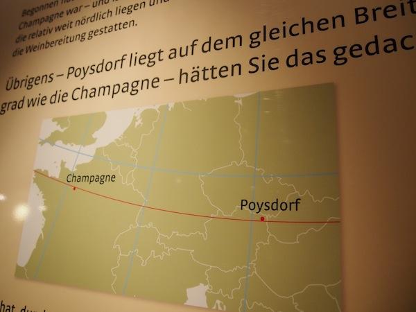 Poysdorf, die 6.000-Seelen-Gemeinde, rühmt sich auf gleicher Höhe wie die Schwestern-Stadt La Champagne in Frankreich. Zu Recht!? :)