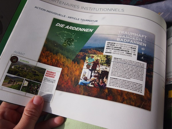 As part of the PR strategy, I am shown articles that have already portrayed the Ardennes as an internationally renowned destination for hiking, trekking and nature experiences.