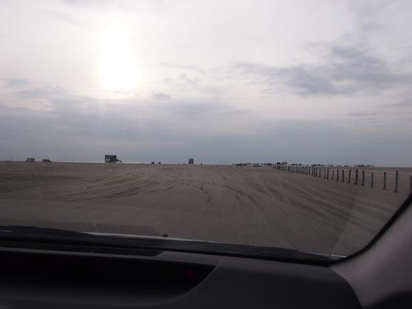 Abends fährt Elke mich & die Hunde zum ca. 20 Minuten entfernten Sandstrand in St. Peter-Ording: Mit dem Auto geht es direkt bis ans Meer! Ein Wahnsinns-Erlebnis für quietschende Österreicher wie mich ;)