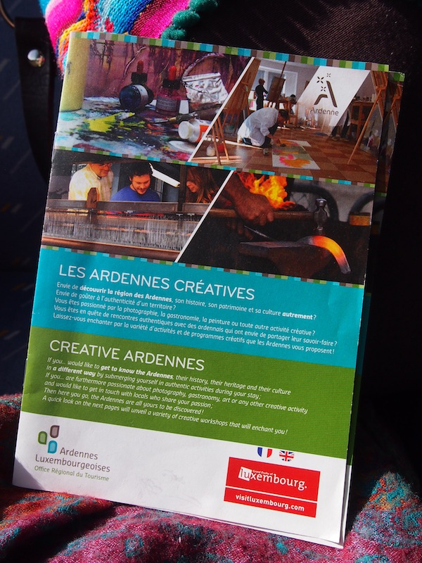 Be sure to order your (bilingual) brochure about Creative Ardennes through www.ardennes-lux.lu/creativeardennes and choose from a great selection of unique cultural activities on offer.