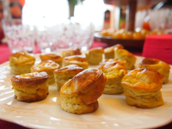 Off we go: For starters, everybody has brought a round of delicious French appetizers to the the table.