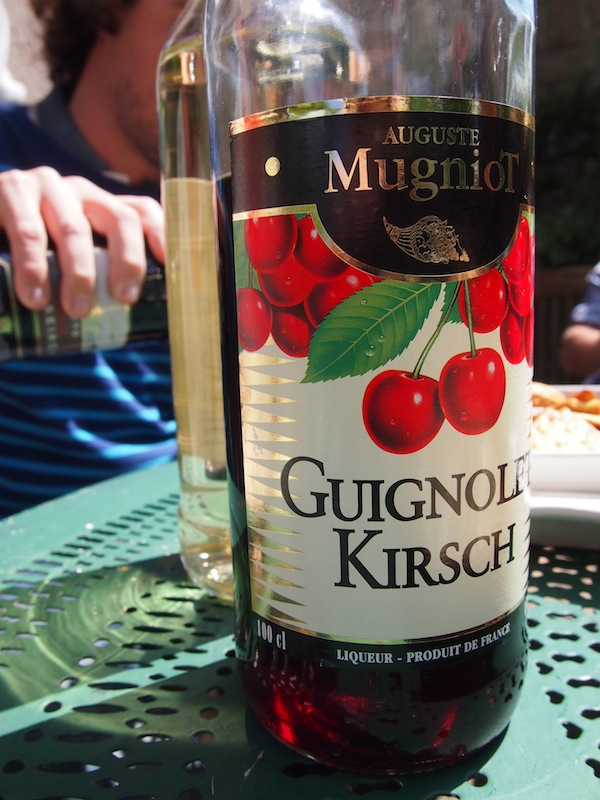 "On the second day, we are served ""Kirsch"" (cherry) spirit as a starter on the sunny terrace of Julien's house in the countryside …"