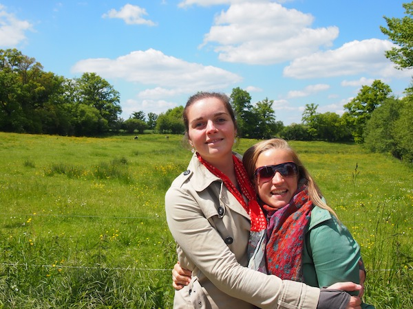 The girls go for a walk in the countryside …