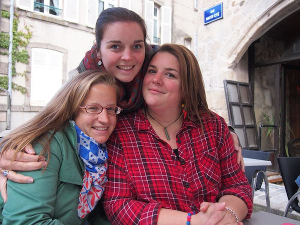 With my Frenchies Anne-Laure and her friend Claire!