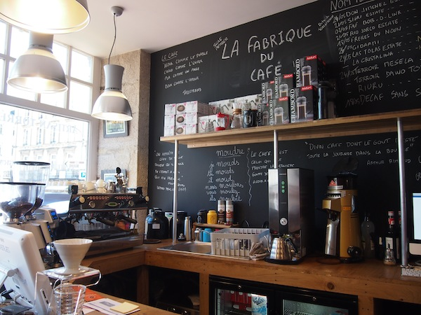 "Mornings are best started by a visit of ""La Fabrique Du Café"" in the centre of Limoges."