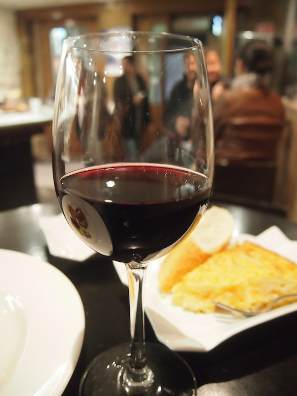 At the end of my culinary short-term visit, I toast to a beautiful day with a wonderful glass of Ribera del Duero.