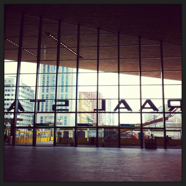 Arriving in Rotterdam: I am impressed by the city's modern architecture.