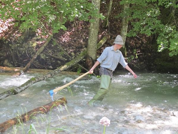 Die Erlebniswelt Mendlingtal bietet eine der letzten Holztriftanlagen Mitteleuropas ...
