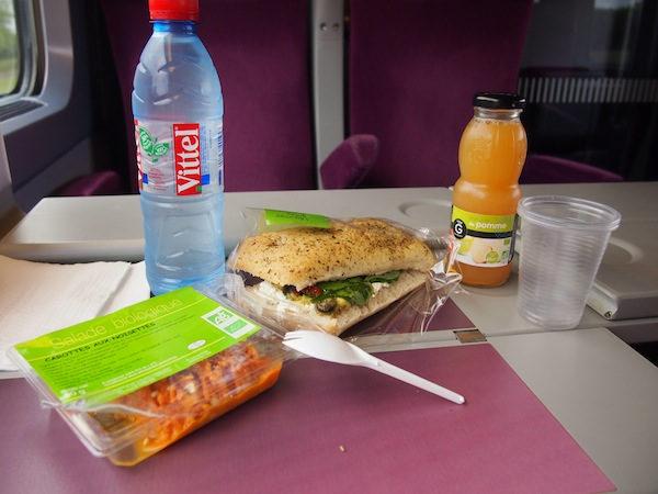 Food on the train is often quite good, actually …