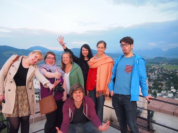Danke für Euren Besuch: Es macht sooo viel Spaß, die Stadt Salzburg gemeinsam mit tweetenden, instagrammenden & bloggenden Freunden & Kollegen zu erleben: Anne, Janett, Christian, Susi, Birgit & Johannes - you guys rock!