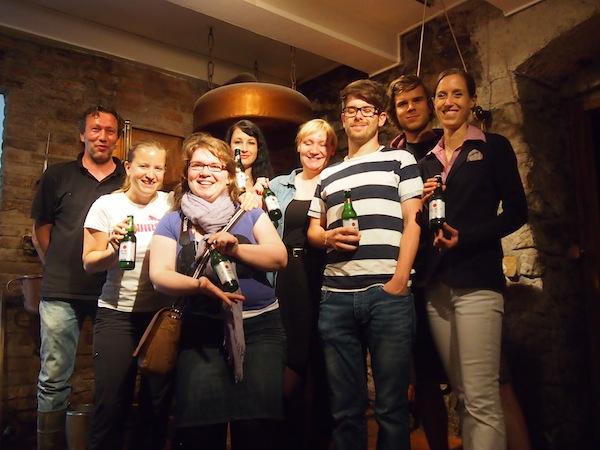 Echte Teamarbeit: Das Kreativ-Team rund um Braumeister Sven der Creativbrauerei in Obertrum bedankt sich für den Besuch und ein einzigartiges BIERERLEBNIS!