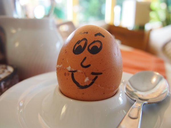 Och dieses Frühstücksei ... oft genügen einfache Dinge, um ein Lächeln zu zaubern!