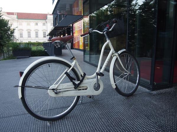 Räder kann man sich hier ebenfalls gratis ausleihen: Das werden wir später gleich mal testen!