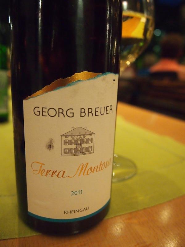Auch der Wein hier ist nicht zu verachten ... Angelangt bei den köstlichen Rieslingen des Romantischen Rheintals!