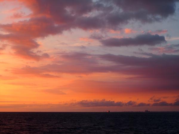 … dem Blick auf den Sonnenuntergang …