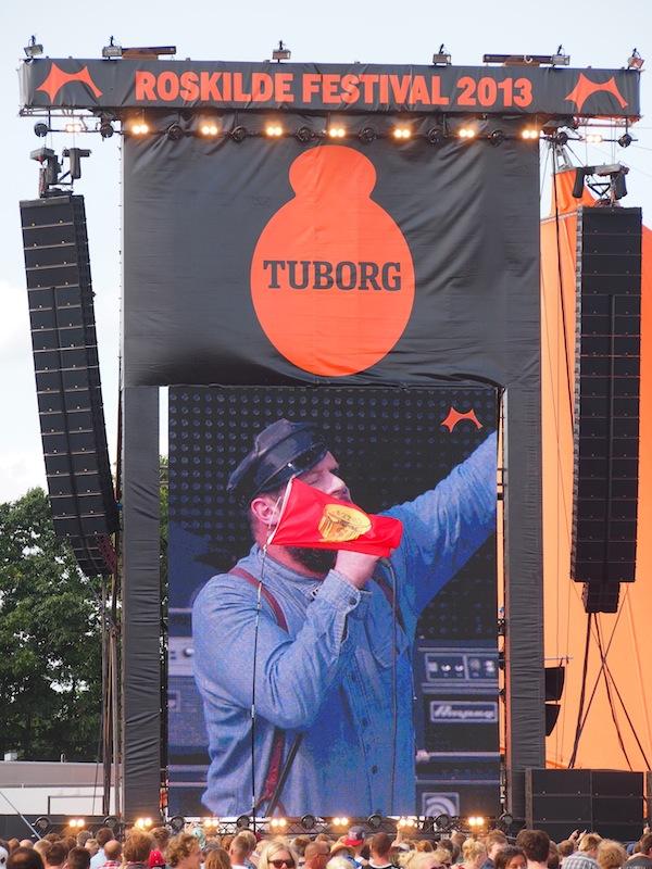 """Turbonegro, die """"dirty old rockers"""" aus Norwegen, bilden den Auftakt für unseren Festivalbesuch in Roskilde."""