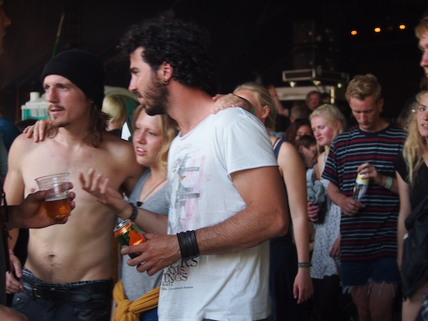 Cool muss man sein: Festival People in Roskilde.