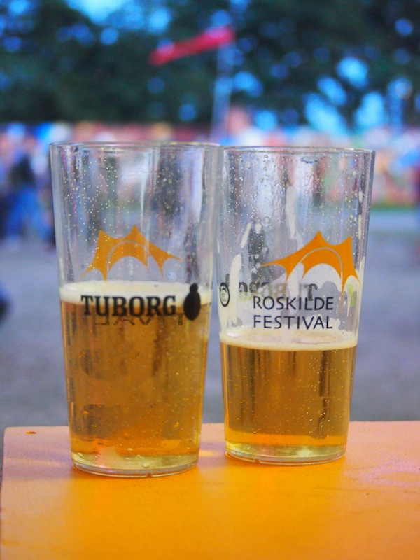 Bei so viel Bier, kein Wunder! Festival-Bier in Roskilde von der dänischen Marke Tuborg.