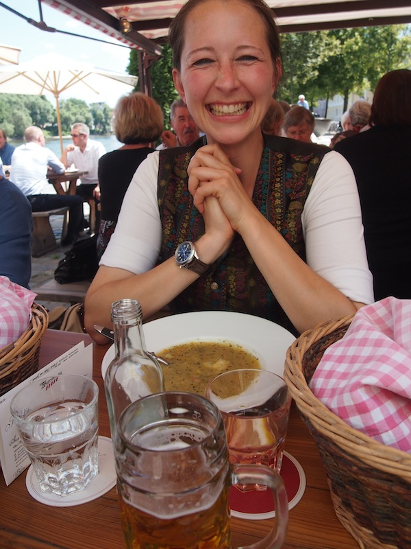 Charming Isabell Käser is my very own city guide for the day. I love her the very moment I meet her – she is just delightful and knows an awful lot about the city of Regensburg.