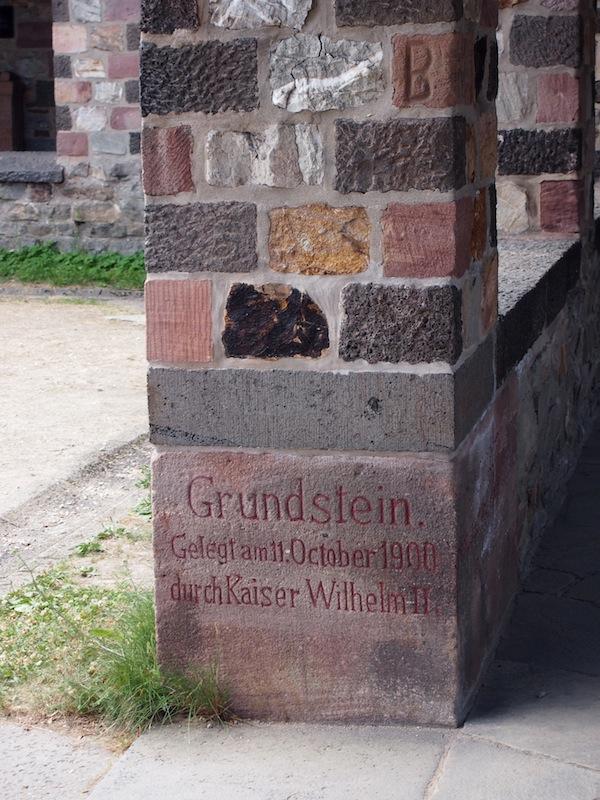 Kaiser Wilhelm legte hier den Grundstein für die Wiederauferstehung des Römerkastells.