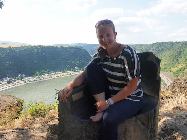 I just enjoy the magic vistas from the seat of the Loreley high above the river Rhine valley.