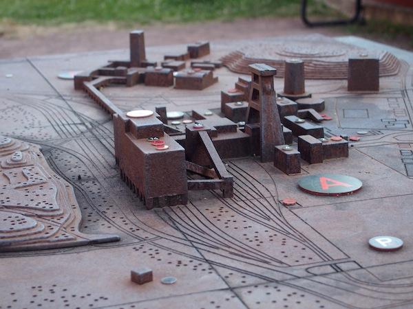 Ein Überblick über die Anlage der Zeche & Kokerei: Dieses Modell hilft, sich die Dimensionen vorzustellen.