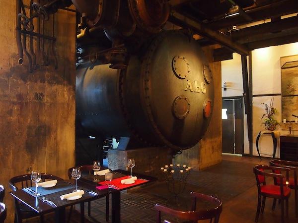 Beispielsweise auch hier: Blick auf das Gourmetrestaurant nebst ehemaligen Verbrennungsöfen ...!