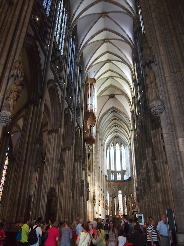 The Cologne Cathedral is just as impressive and towering a building from the inside as well as from the outside.