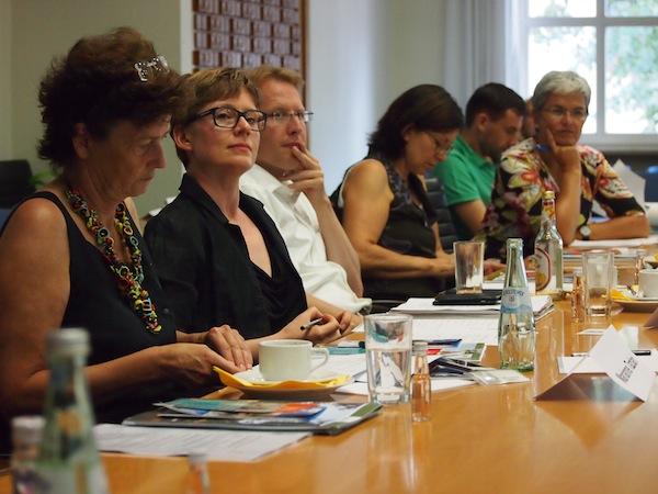 Beim Netzwerktreffen wird gespannt gelauscht: Hier im Publikum Frau Patricia Alberth, Expertin für UNESCO Welterbe weltweit.