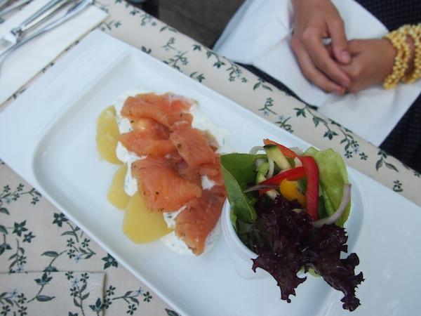 Ein weiteres kulinarisches Highlight war unser Besuch beim Top-Wirt des Jahres 2013 Gasthaus Apfelbauer mit dieser sensationellen Alpenlachs-Forelle aus heimischen Gewässern. Einfach KÖSTLICH!