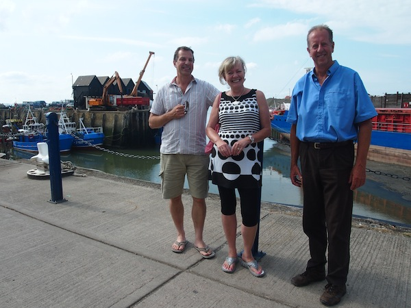 Travel with the Locals: Meeting the local Whitstable harbour master who according to Catriona has a most relaxed job? ☺