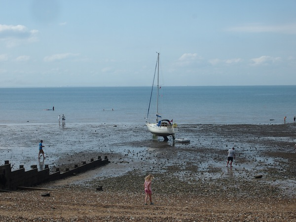 "The ""Kent Creative Coast"", in Whitstable, at low tide .."