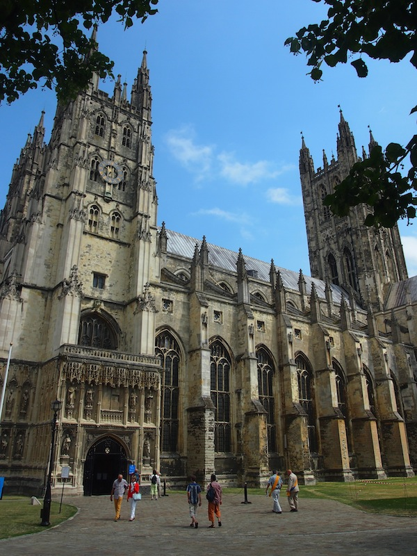 Walking onto the cathedral grounds, I take a minute or two to appreciate the mighty appearance of the so-called Mother Church of England. It is impressive.