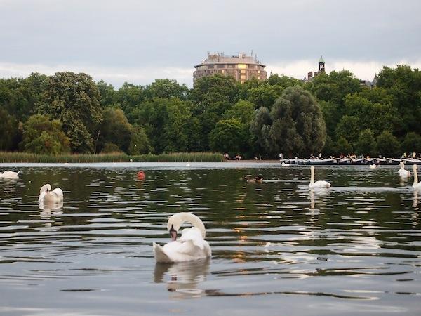 Da lieb' ich mir schon eine Romantik der ganz anderen Art ... und empfinde auch in dieser klassischen Postkartenansicht des Londoner Hyde Park eine gewisse zeitlose Schönheit.