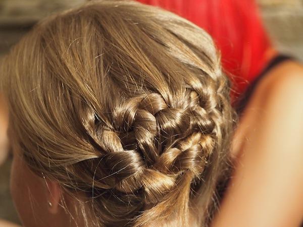 """Hier noch mal mein fertig aufgestecktes """"Haar-Meisterwerk""""! :D"""