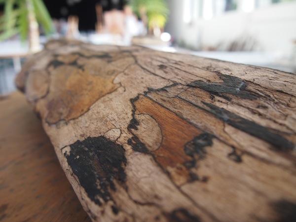 Was für ein wunderschönes Stück Holz: Selbst Laien wie mich begeistert das eigens von der motivierten Kursteilnehmerin mitgebrachte Holz aus Vorarlberg.
